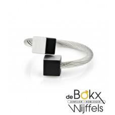 Clic by suzanne ring voor elke vinger met zwart blokje - 54668