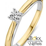 jubileumring geel en wit goud met 0.25crt diamant - 56149