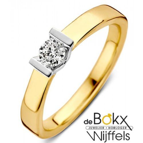 Diamanten ring goud dames 0.20crt - 57053