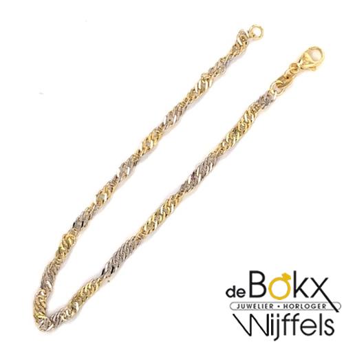 Gouden gedraaide armband dames - 57534