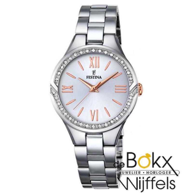 Dames horloge Festina F16916/1 staal met steentjes...